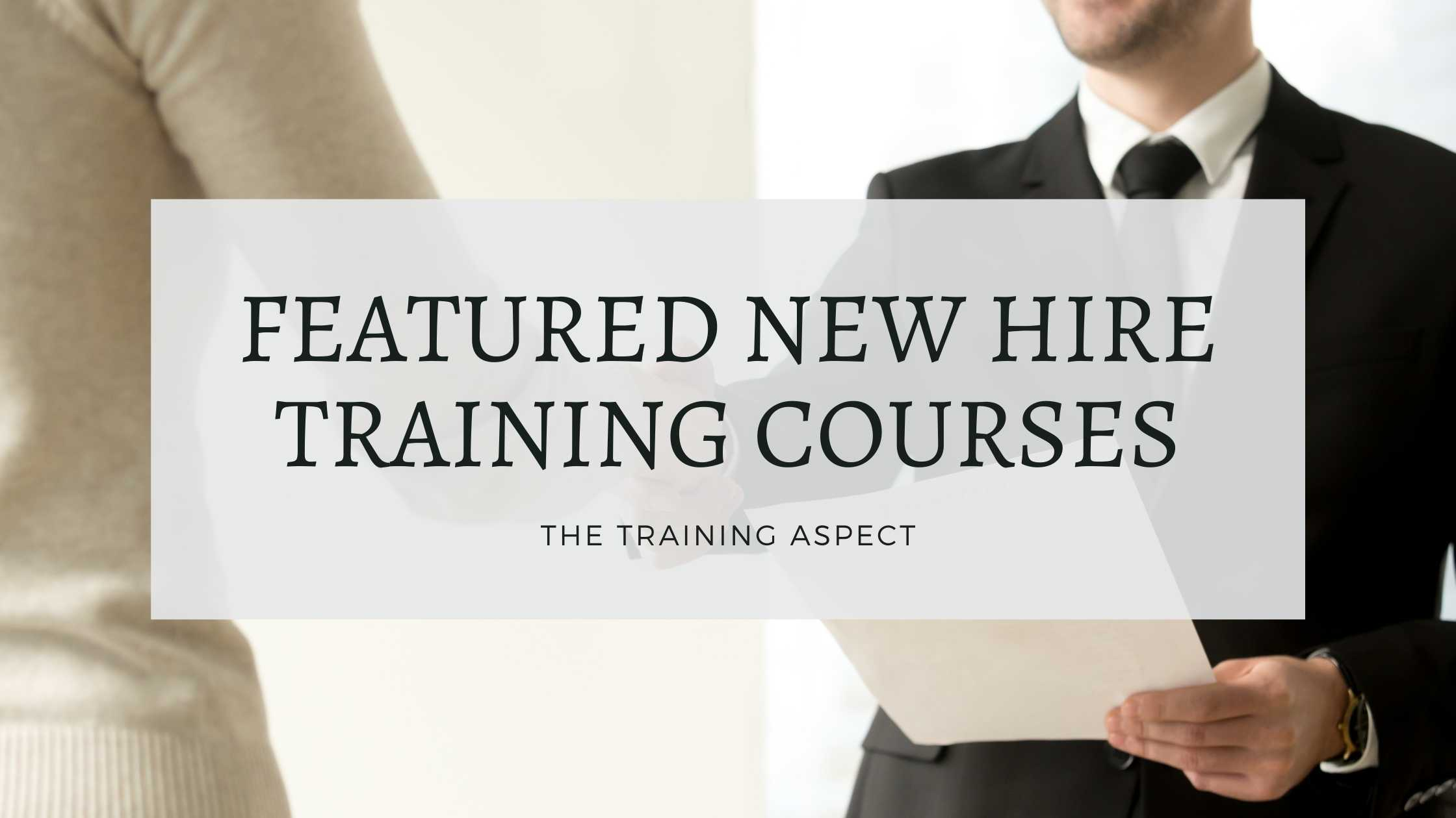 new hire training